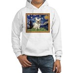 Starry/French Bulldog Hooded Sweatshirt