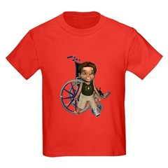 Karlo Broken Left Leg Kids Dark T-Shirt