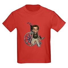 Karlo Broken Left Leg Kids Dark T-Shirt