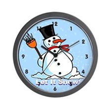 A frosty Snowman Wall Clock