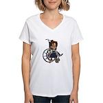 Katrina Broken Left Arm Women's V-Neck T-Shirt