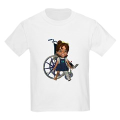 Katrina Broken Left Leg Kids Light T-Shirt