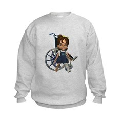 Katrina Broken Left Leg Kids Sweatshirt