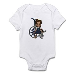 Katrina Broken Left Leg Infant Bodysuit