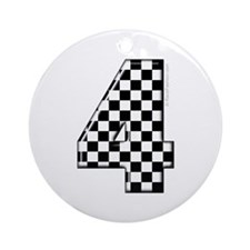 racing #4 Ornament (Round)
