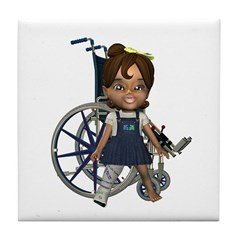 Katrina Broken Right Leg Tile Coaster