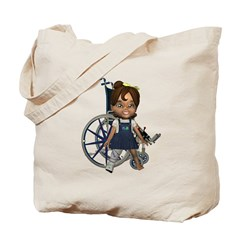 Katrina Broken Right Leg Tote Bag
