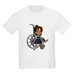 Katrina Broken Right Leg Kids Light T-Shirt