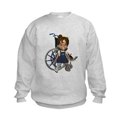 Katrina Broken Right Leg Kids Sweatshirt