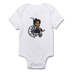Katrina Broken Right Leg Infant Bodysuit