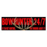 Bowhinter 24/7 Bumper Car Sticker