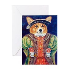 Corgi King Greeting Card (one card)