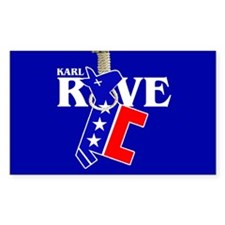 KARL ROVE Rectangle Decal