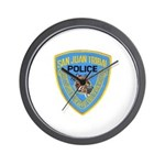 San Juan Indian Police Wall Clock