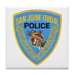 San Juan Indian Police Tile Coaster