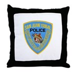 San Juan Indian Police Throw Pillow
