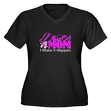 Dance Mom Women's Plus Size V-Neck Dark T-Shirt