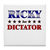 RICKY for dictator Tile Coaster