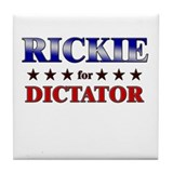 RICKIE for dictator Tile Coaster