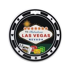 Las Vegas Poker Chip Design Ornament (Round)