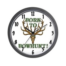 Born to Bowhunt! Wall Clock