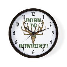 Born to Bowhunt! Wall Clock