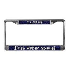 Funky Love Irish Water Spaniel License Plate Frame