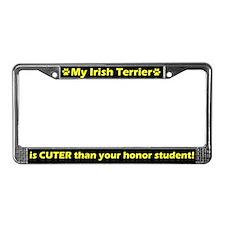 Honor Student Irish Terrier License Plate Frame