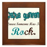 Papua New Guinean Rock Framed Tile