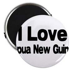 i love Papua New Guinea Magnet