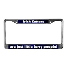 Furry People Irish Setter License Plate Frame