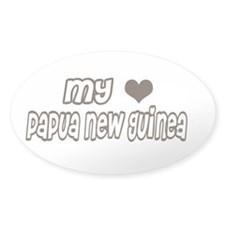 my heart Papua New Guinea Oval Decal