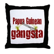 Papua New Guinean gangsta Throw Pillow