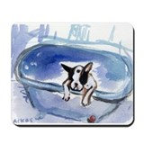 BOSTON in bathtub Design Mousepad