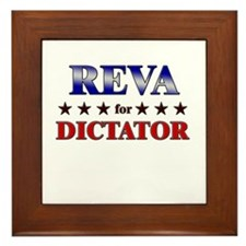 REVA for dictator Framed Tile