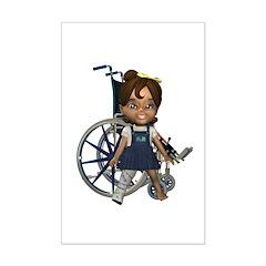 Katrina Broken Rt Leg Mini Poster Autograph Print