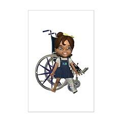 Katrina Broken Lft Leg Mini Poster Autograph Print
