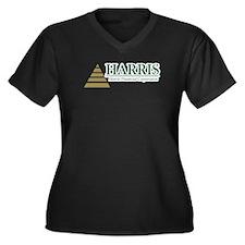 Harris Financial Women's Plus Size V-Neck Dark T-S