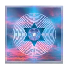 Merkaba Sunrise Labyrinth Tile Coaster