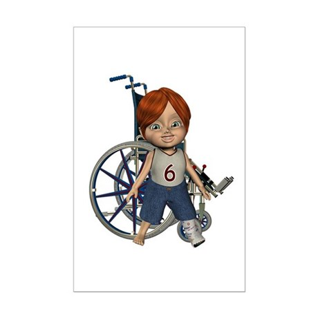 Kevin Broken Left Leg Mini Poster Autograph Print
