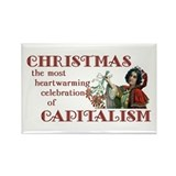 Capitalist Christmas Rectangle Magnet