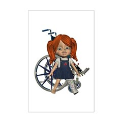 Kit Broken Left Leg Mini Poster Autograph Print