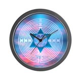 Merkaba Labyrinth Wall Clock