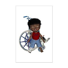 Keith Broken Rt Leg Mini Poster Autograph Print
