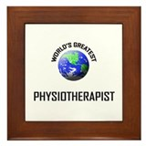 World's Greatest PHYSIOTHERAPIST Framed Tile