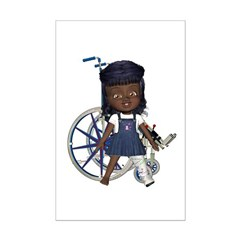 Katy Broken Left Leg Mini Poster Autograph Print