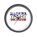 RAQUEL for dictator Wall Clock