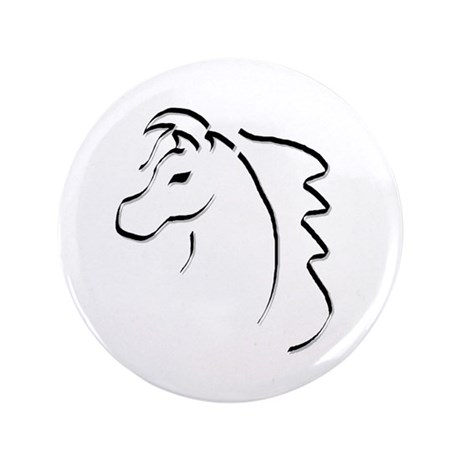 "Horse Calligraphy 3.5"" Button (100 pack)"