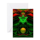 """Cosmic Goddess III"" Holiday Card Greeting Card"