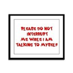 Talking To Myself Framed Panel Print